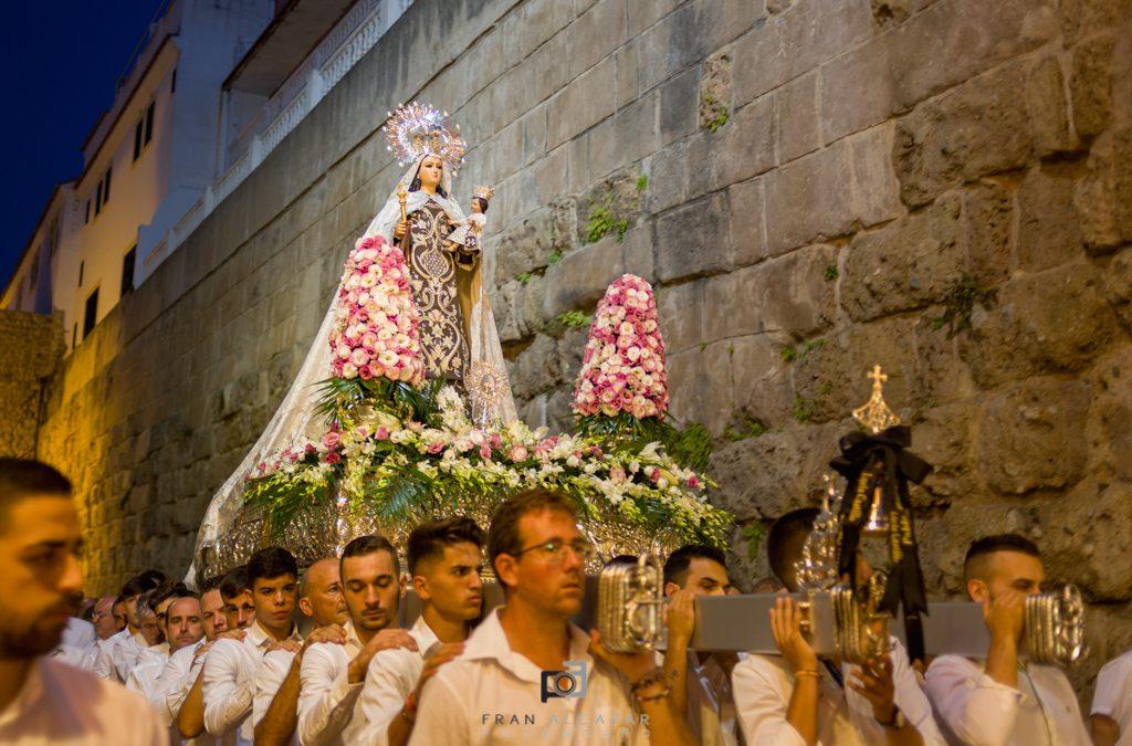Rosario de la Aurora Virgen del Carmen en Marbella.